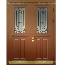 """Входная металлическая двухстворчатая дверь """"Альбатрос-Д3"""""""
