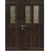 Двустворчатая металлическая дверь, модель 14-004