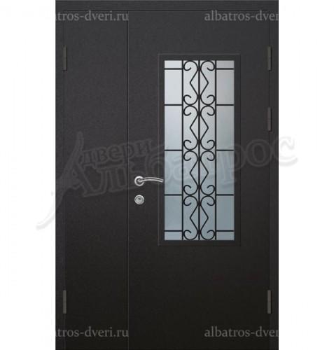 Двустворчатая металлическая дверь, модель 14-006