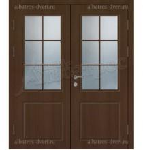 Двустворчатая металлическая дверь, модель 14-008