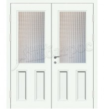 Двустворчатая металлическая дверь, модель 14-010