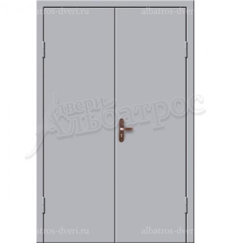 Входная металлическая двухстворчатая дверь 02-85