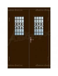 Двухстворчатая металлическая дверь 02-86