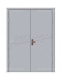 Двухстворчатая металлическая дверь 02-87