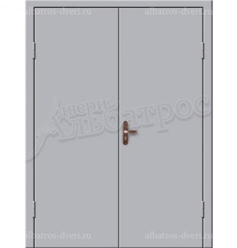 Входная металлическая двухстворчатая дверь 02-87