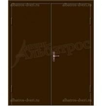 Двухстворчатая металлическая дверь 02-88