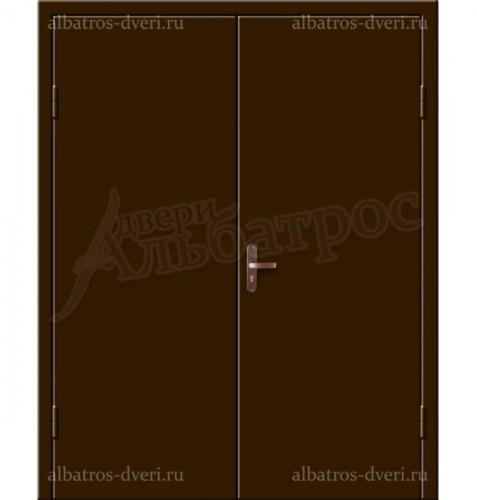 Входная металлическая двухстворчатая дверь 02-88