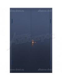 Двухстворчатая металлическая дверь 02-89