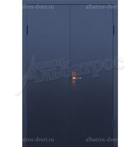 Входная металлическая двухстворчатая дверь 02-89