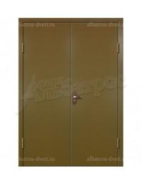 Двухстворчатая металлическая дверь 02-90