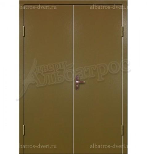 Входная металлическая двухстворчатая дверь 02-90