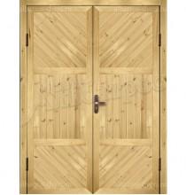 Двухстворчатая металлическая дверь 02-91