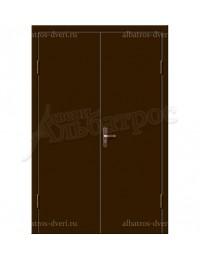 Двухстворчатая металлическая дверь 02-92