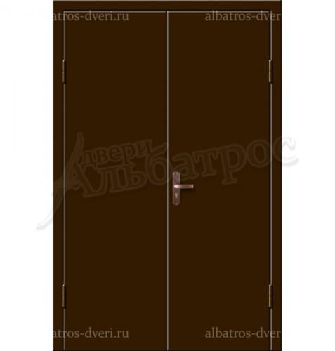 Входная металлическая двухстворчатая дверь 02-92