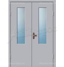 Двухстворчатая металлическая дверь 02-93