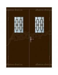 Двухстворчатая металлическая дверь 02-94