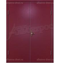 Двухстворчатая металлическая дверь 02-96