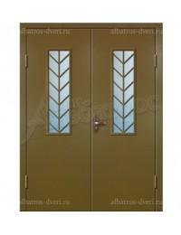 Двухстворчатая металлическая дверь 02-97