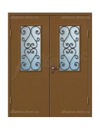 Двухстворчатая металлическая дверь 02-98