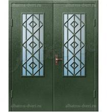 Двухстворчатая металлическая дверь 03-00