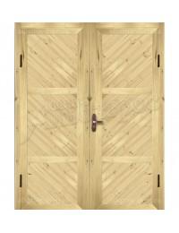 Двухстворчатая металлическая дверь 03-02