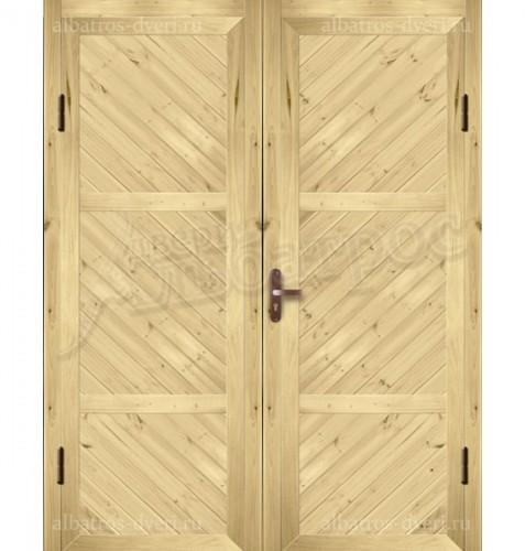 Входная двухстворчатая дверь на заказ 03-02