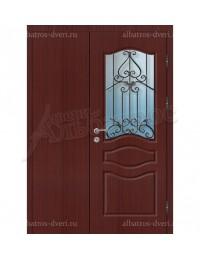 Двухстворчатая металлическая дверь 03-69