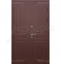 Двухстворчатая металлическая дверь 00-09