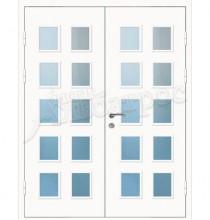 Двухстворчатая металлическая дверь 04-21