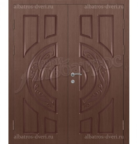 Металлическая двустворчатая дверь в коттедж, модель 15-005