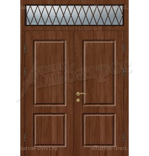 Металлическая двустворчатая дверь в коттедж, модель 15-007