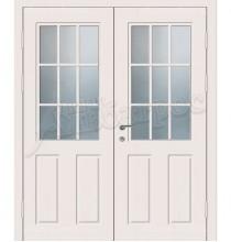 Металлическая двустворчатая дверь в коттедж, модель 15-009