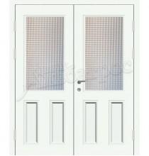 Металлическая двустворчатая дверь в коттедж, модель 15-010