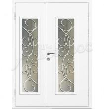 Двухстворчатая металлическая дверь 04-61