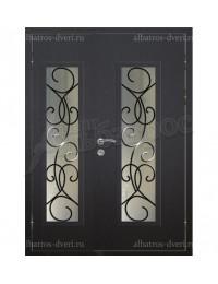 Двухстворчатая металлическая дверь 04-63