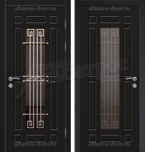 Входная дверь со стеклом и ковкой 04-70