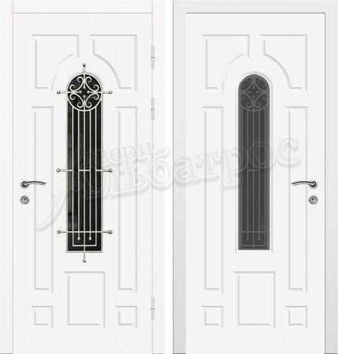 Входная дверь со стеклом и ковкой 04-72