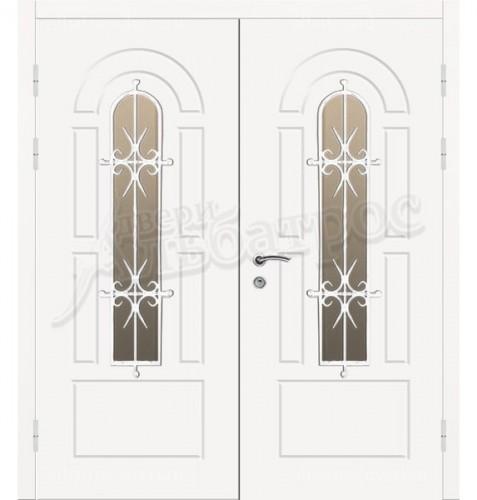 Двухстворчатая металлическая дверь 04-77