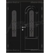 Двухстворчатая металлическая дверь 04-83