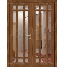 Двухстворчатая металлическая дверь 02-82