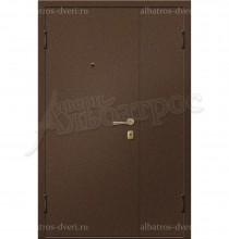 Двухстворчатая металлическая дверь 00-11