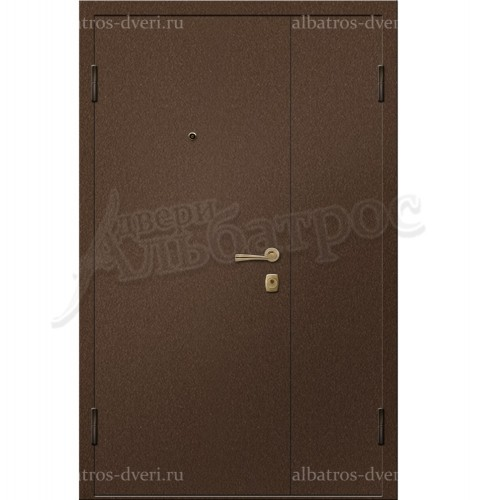 Входная металлическая двухстворчатая дверь 00-11