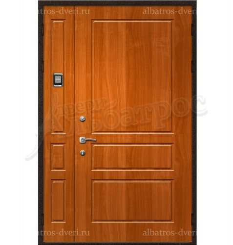 Двухстворчатая металлическая дверь 00-23