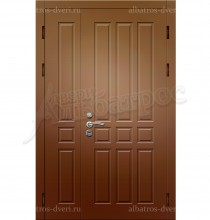 Двухстворчатая металлическая дверь 00-08