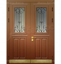 Двухстворчатая металлическая дверь 00-10