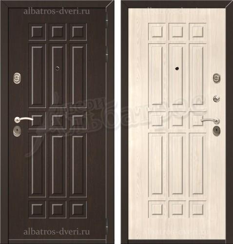 Входная металлическая дверь модель Лекс 8 Беленый дуб