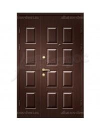 Двухстворчатая металлическая дверь 00-34