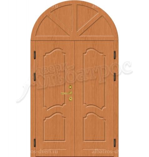Двухстворчатая металлическая дверь 00-13