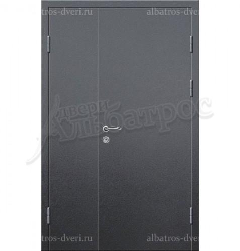 Входная двухстворчатая металлическая нестандартная дверь 03-82