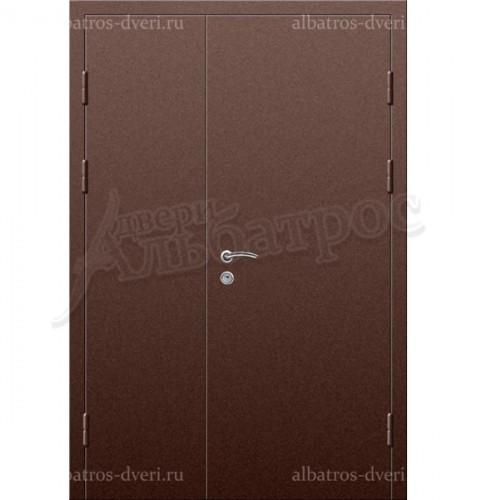 Входная двухстворчатая металлическая нестандартная дверь 03-83